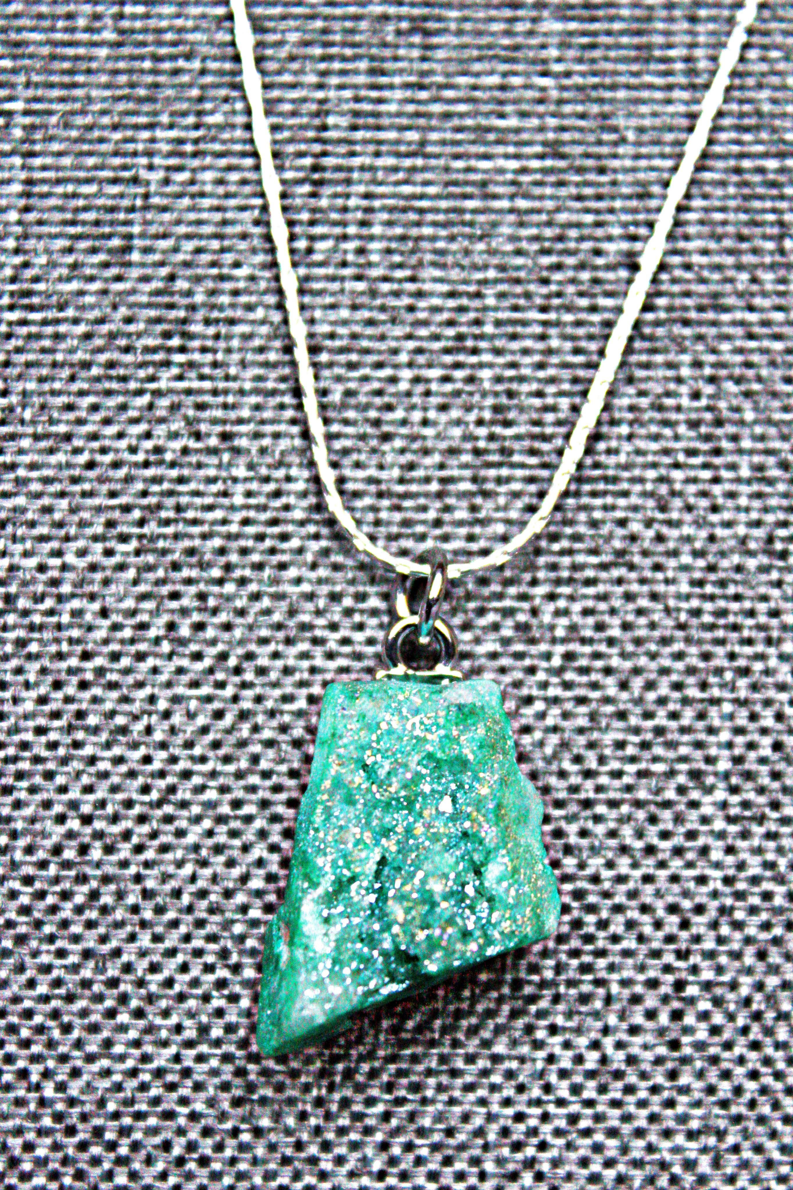 Green malachite | Sterling Sliver Necklace