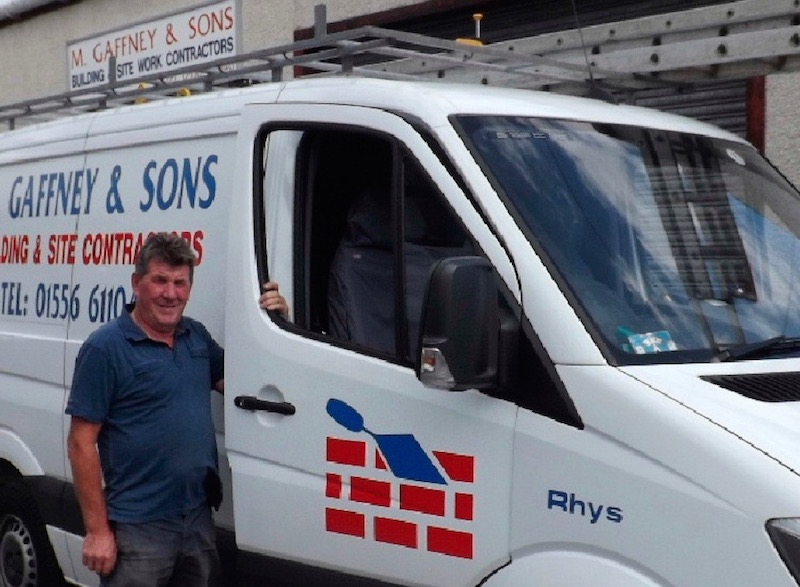 Michael Gaffney of M Gaffney & Sons Builders Dalbeattie