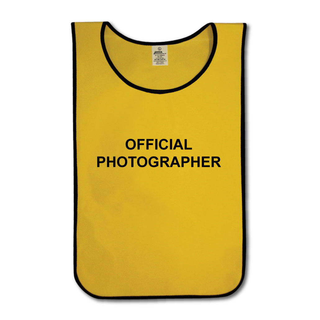 Official Photographer Tabard Yellow