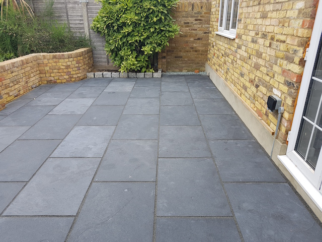 Natural Bluestone Patio Virginia Water by Block Paving Surrey