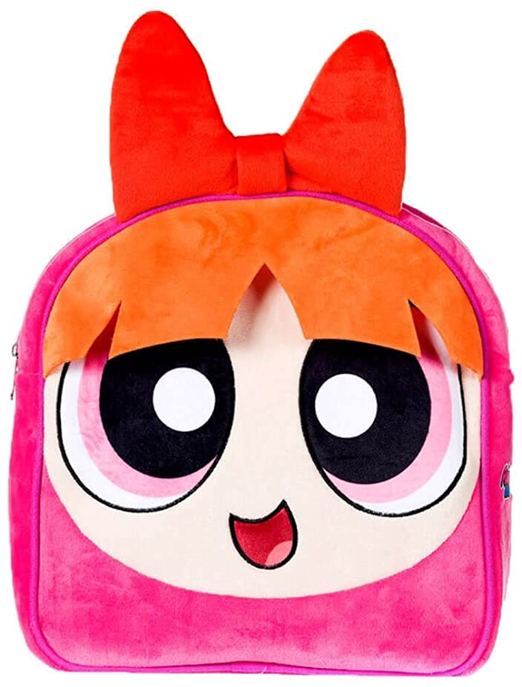 Officially Licensed Blossom Powerpuff Girls Character Plush Backpack