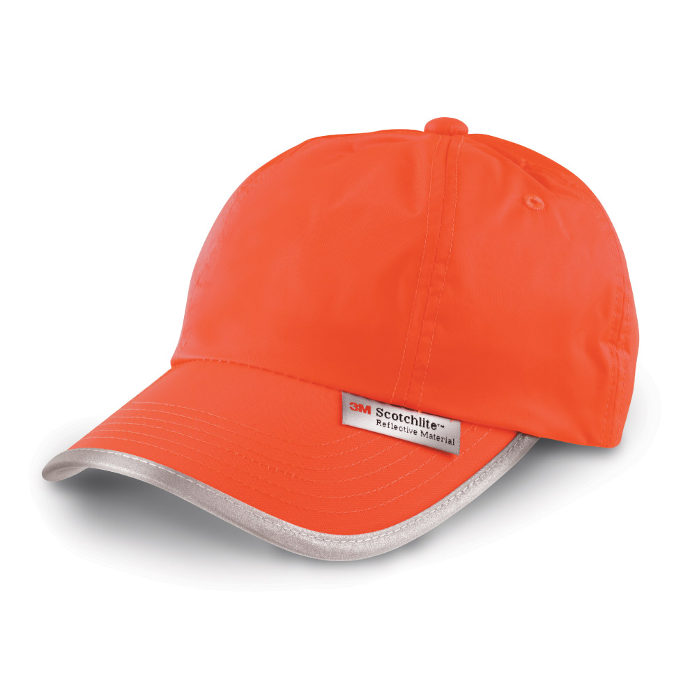 RC35X Workwear Hi Vis Orange Cap with Reflective Trim