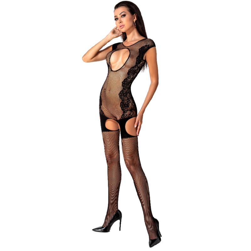 PASSION WOMAN BS082 BODYSTOCKING NEGRO TALLA UNICA