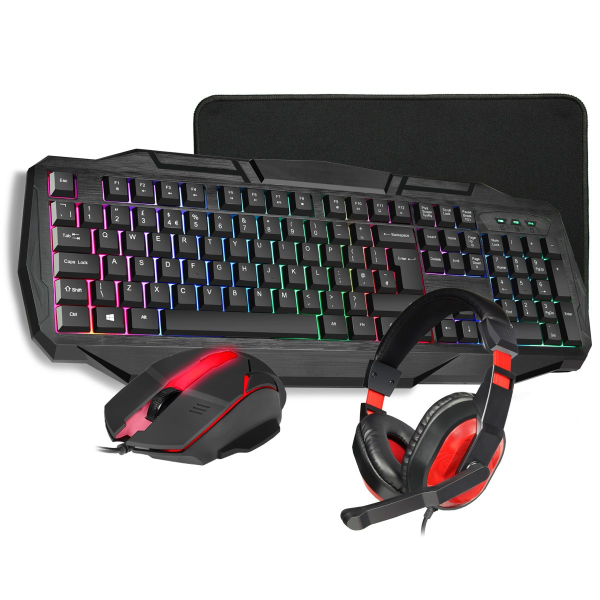 CiT Builder 4-in-1 Kit with Keyboard, Mouse, Mouse Mat and Headset