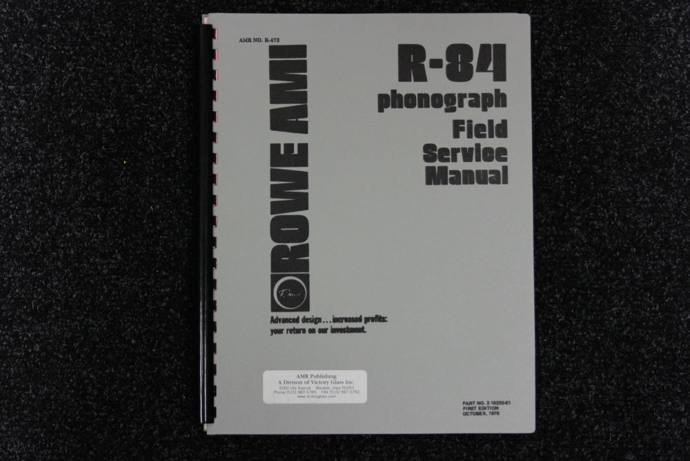 Rowe AMI - R-84 Service Manual