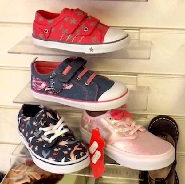 Trendy, stylish childrens' shoes at The Pied Piper, Dumfries
