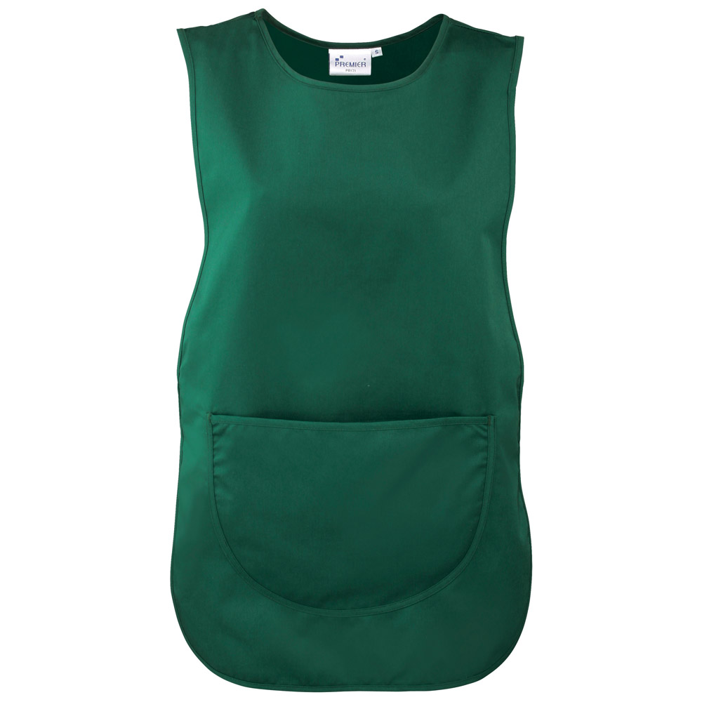 Bottle Green Polycotton Tabard with Pocket.