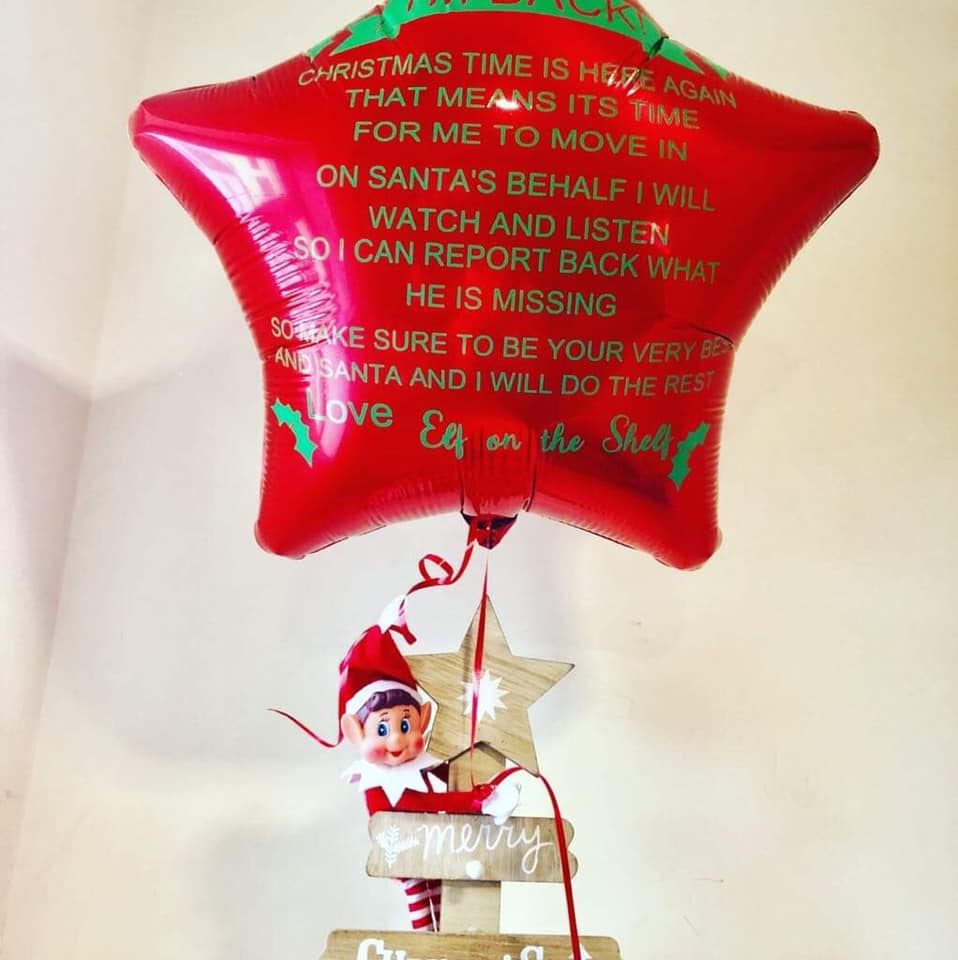 Christmas Elf on the Shelf Balloons, katiespartyshop, corkchristmasballoons