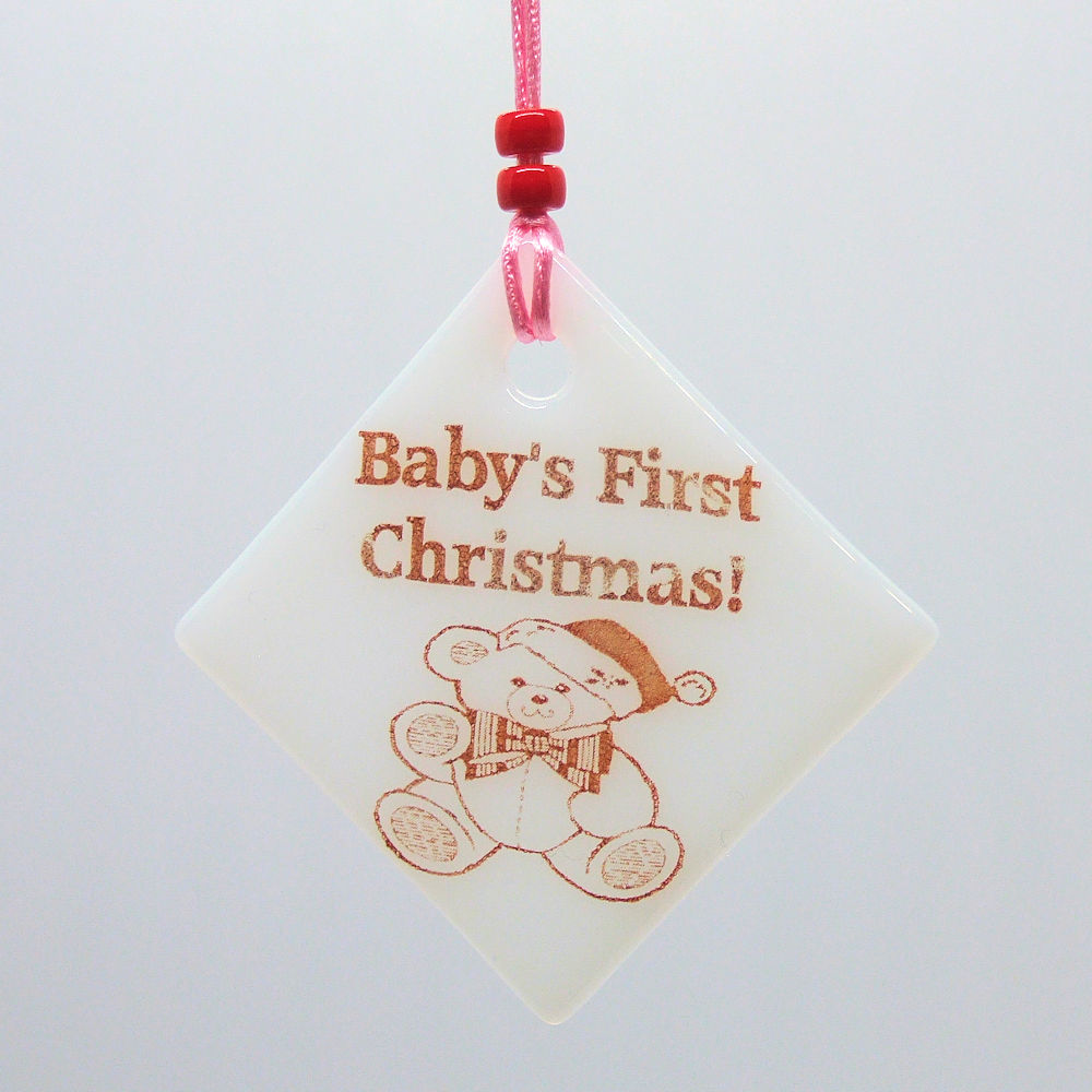 Baby's first Christmas (girl) - Christmas decoration