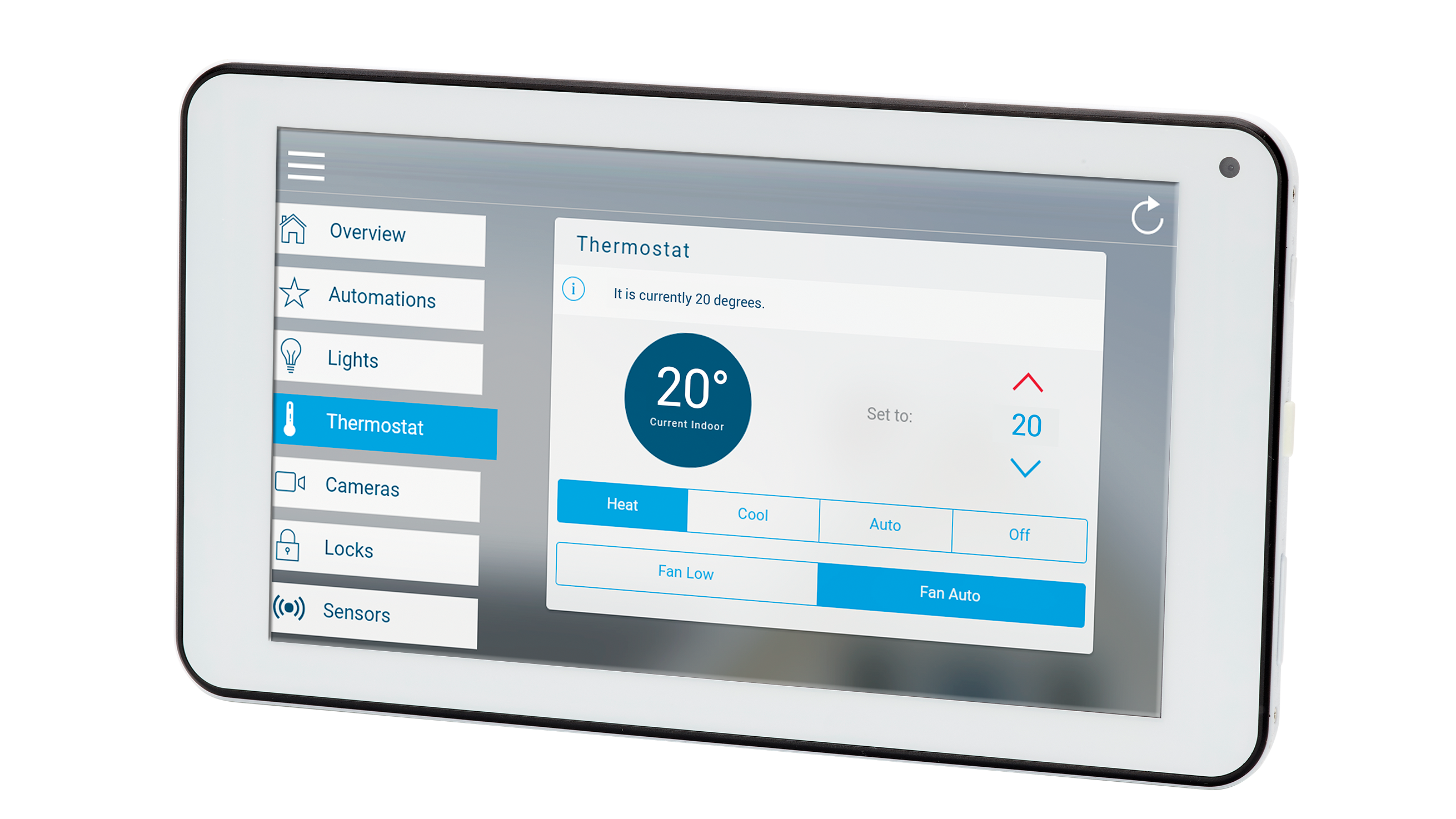Smart Home Security iPad with touch screen control of security devices on your Zero Wire system