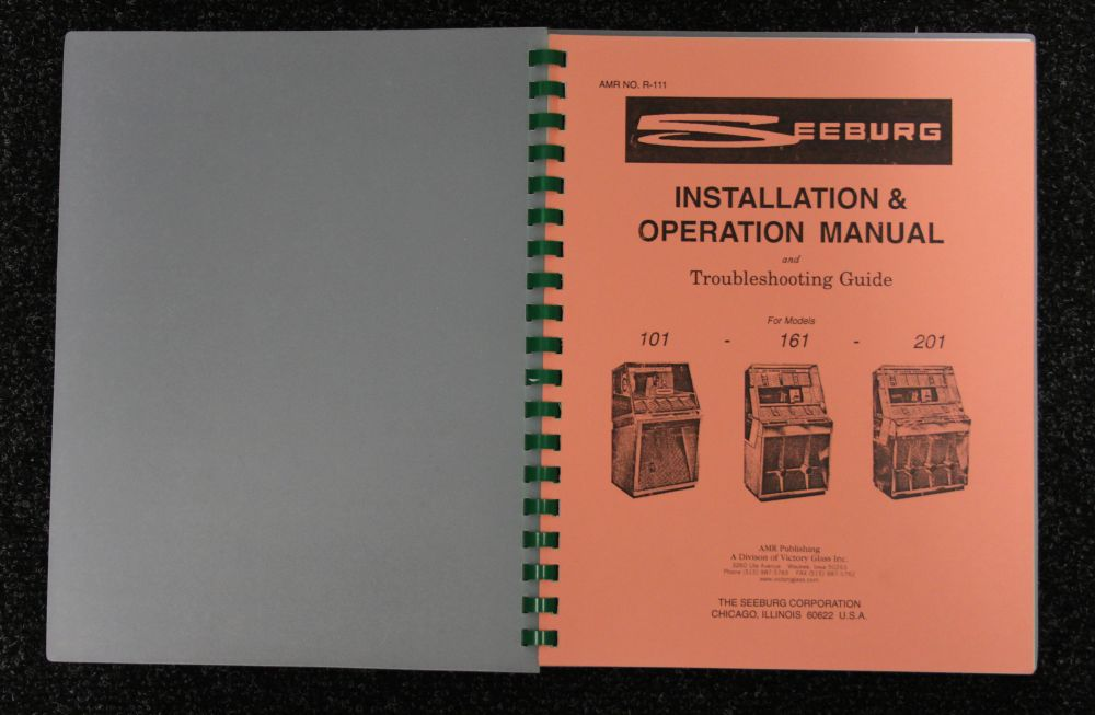 Seeburg - Installation & Operation Manual - Model 101, 161, 201