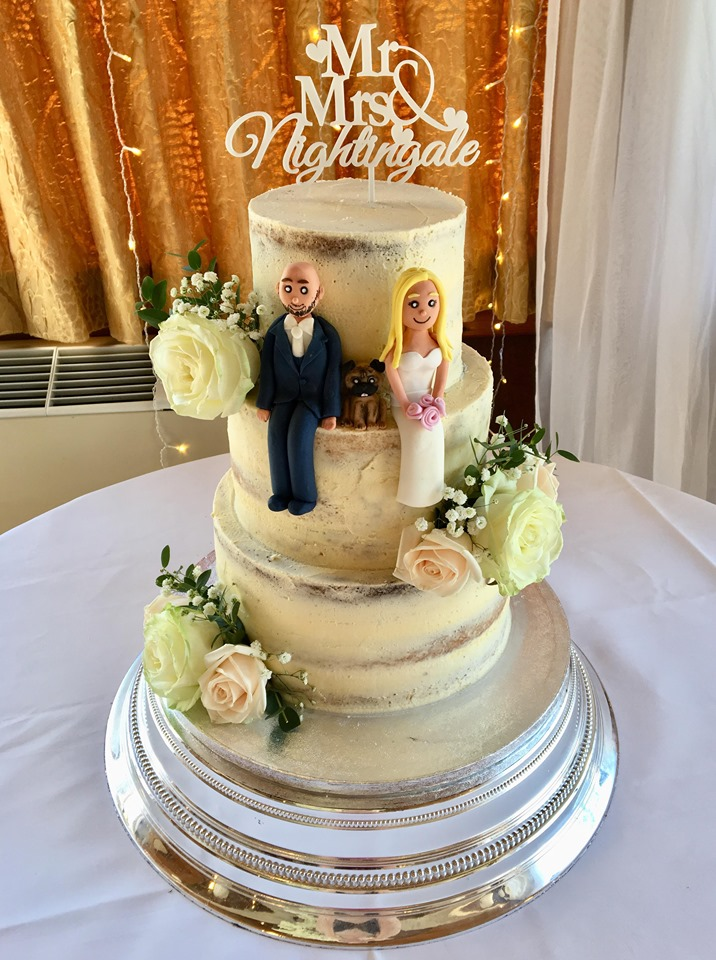 3 Tier Semi Naked Cake with figures
