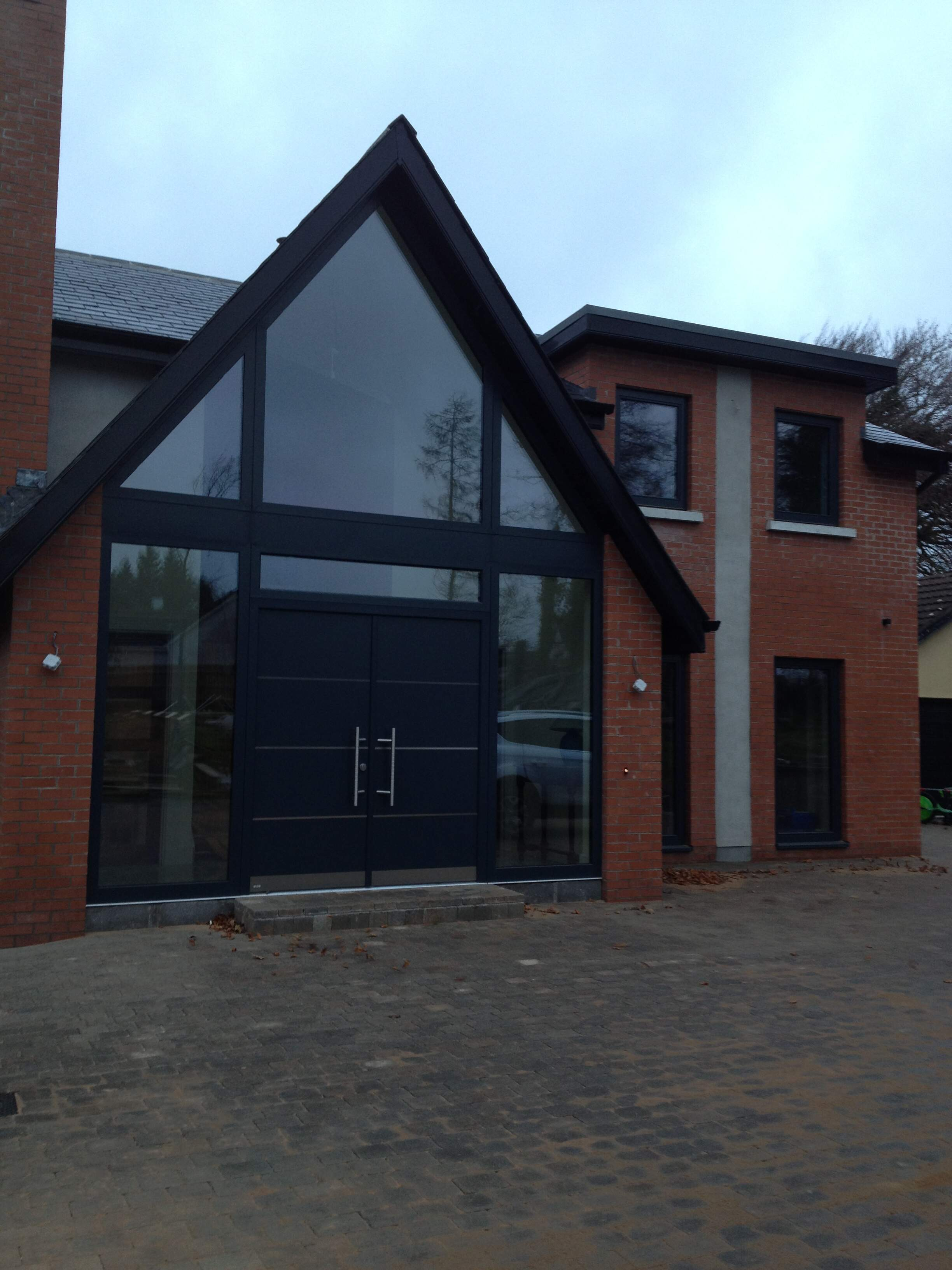 Aluminium clad triple glazed windows and double doors from Unilux