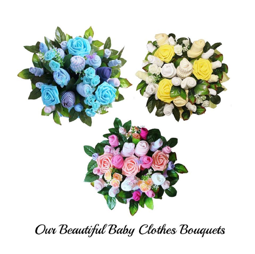 Beautiful Baby Clothes Bouquet for a Girl