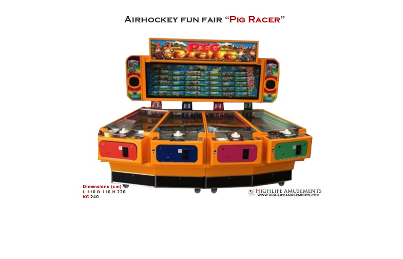 "Rental Airhockey Fun fair ""Pig racer"""