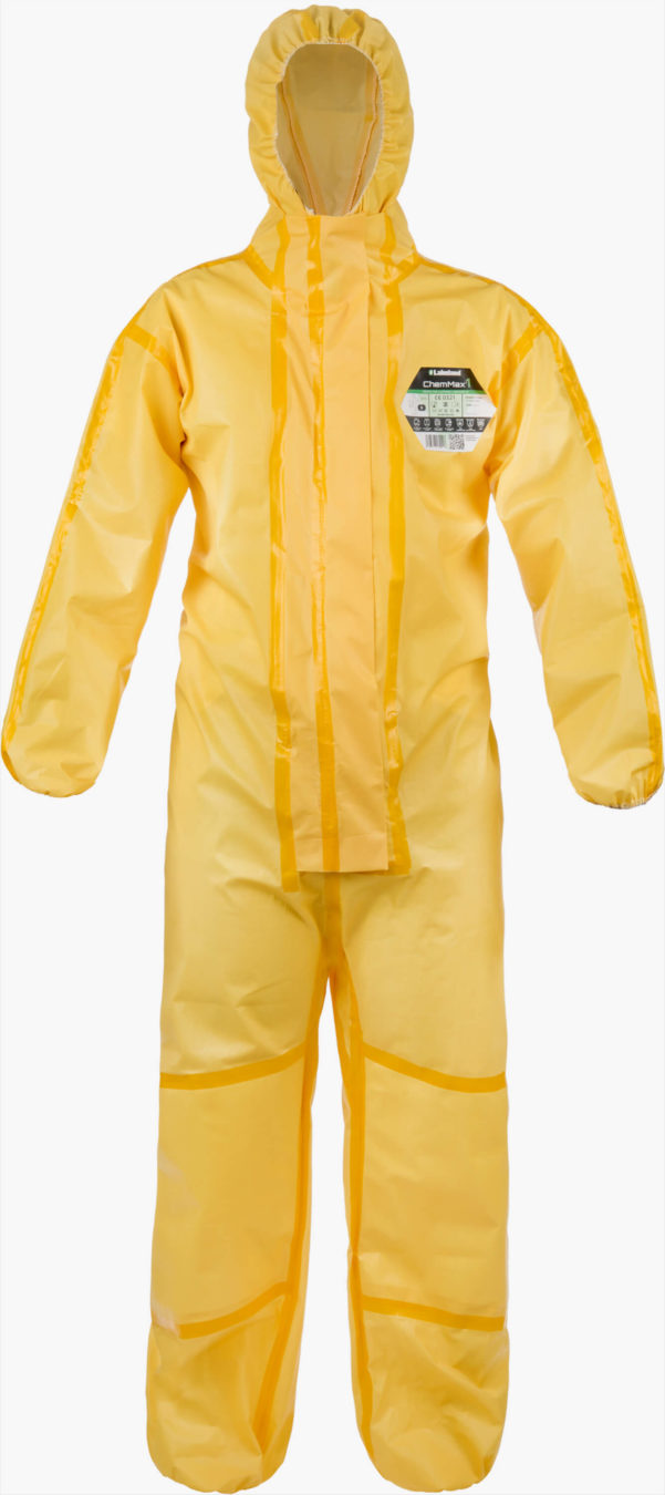 Waterproof Overall LAKELAND ChemMax 1EB Coverall Hood Chemical Bio Hazard