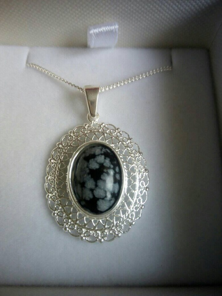 Sterling Silver Fillagree Style Pendant
