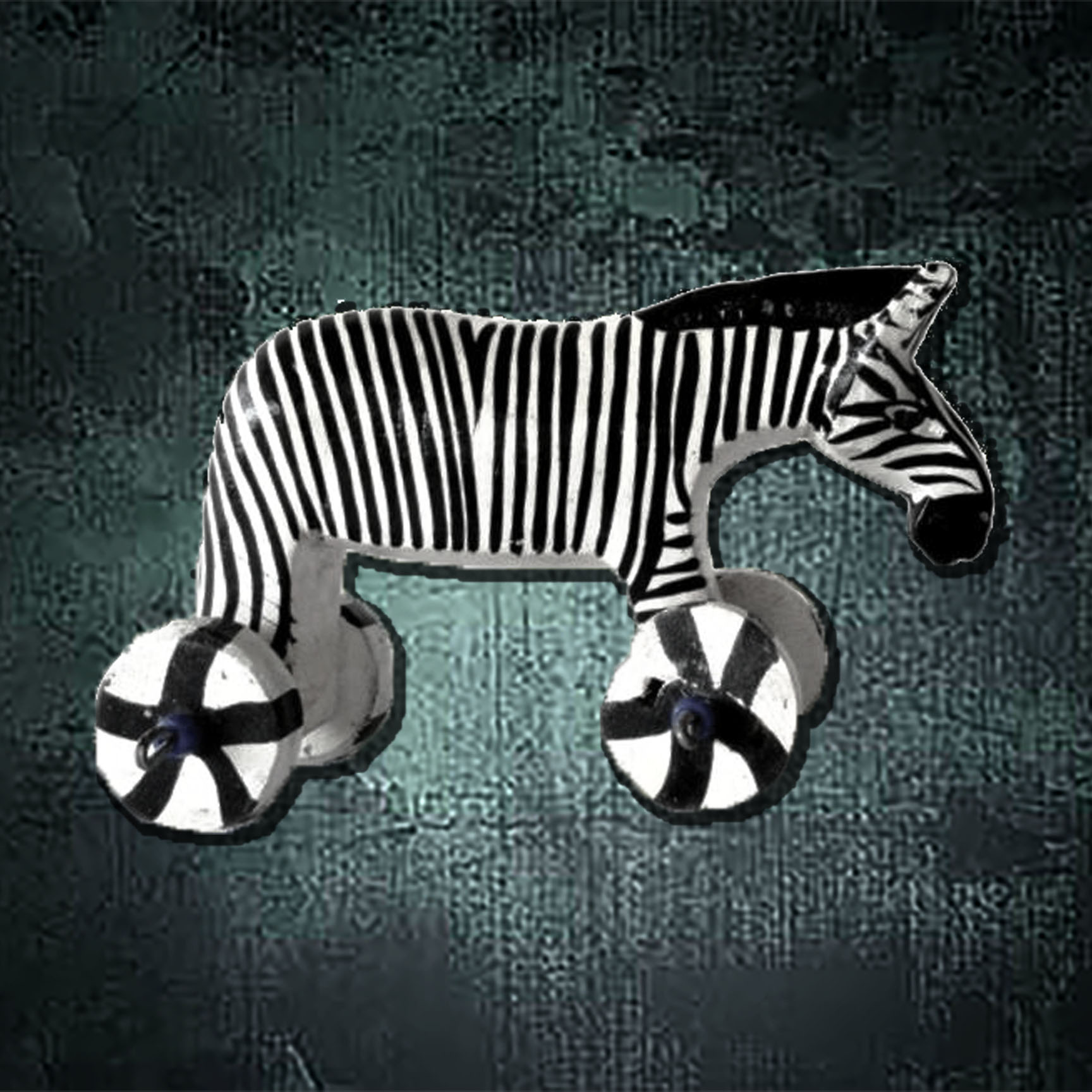 Wooden Push Toy Zebra