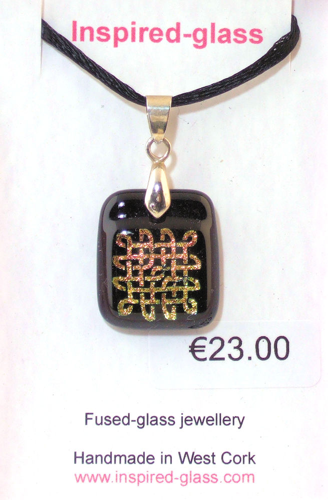 Fused-glass jewellery - pendant - 128