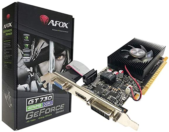 AFOX GeForce GT730 2GB 128bit DDR3 Low Profile PCI-E Graphics Card