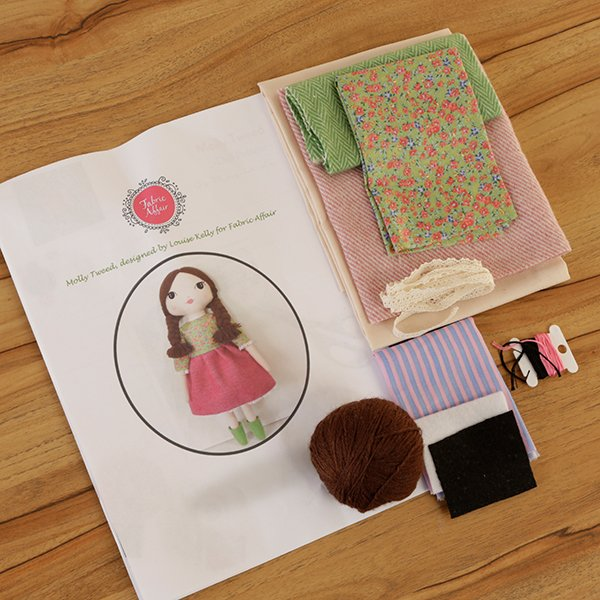 Fabric Affair:Molly Tweed Rag Doll kit.