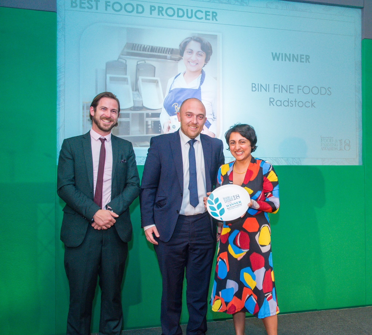 Bini Fine Foods Ltd - Best Food Producer Awards 2018 - Western Daily Press