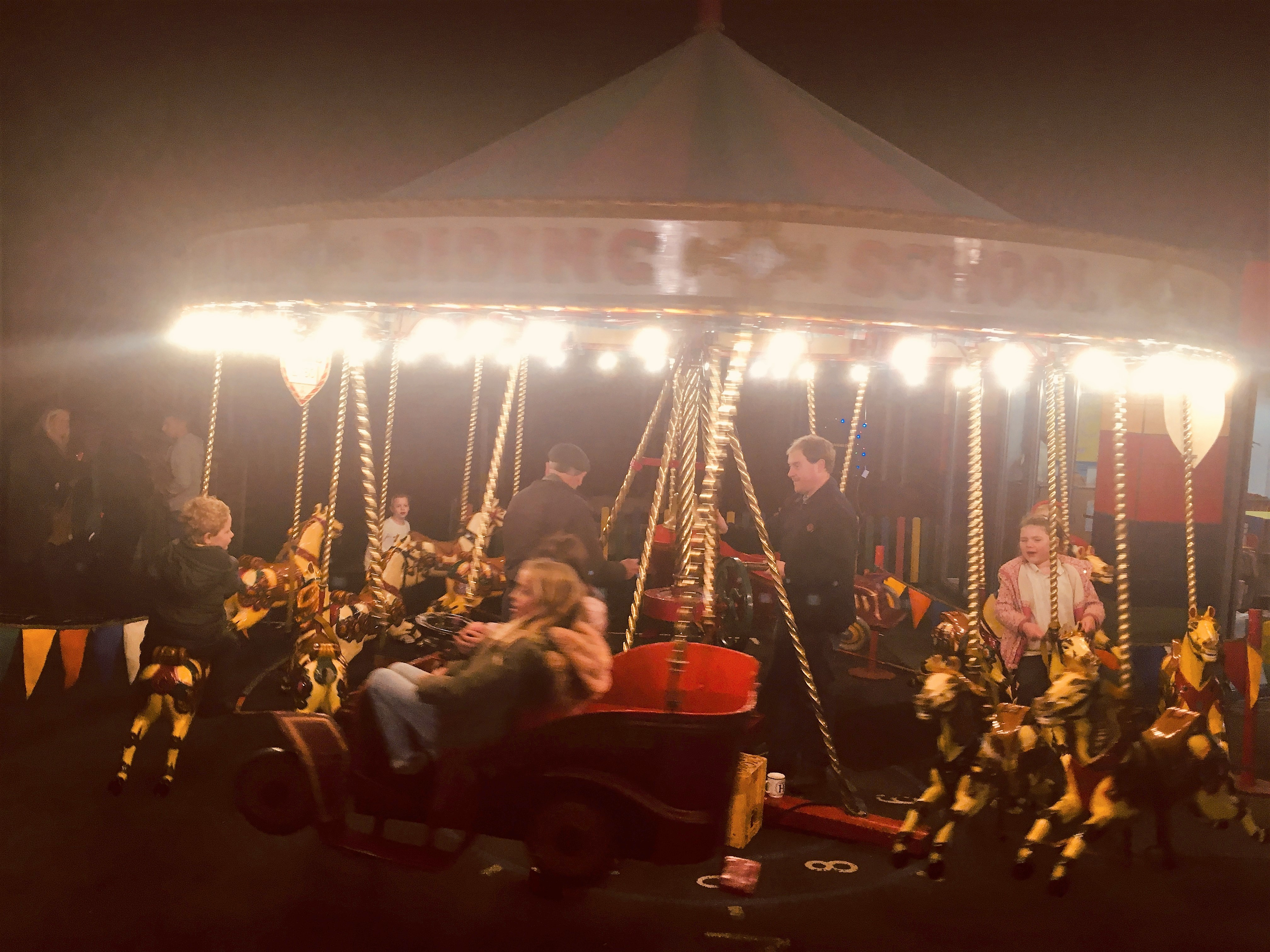 Business Support Brings Christmas Carousel Fun to Local School