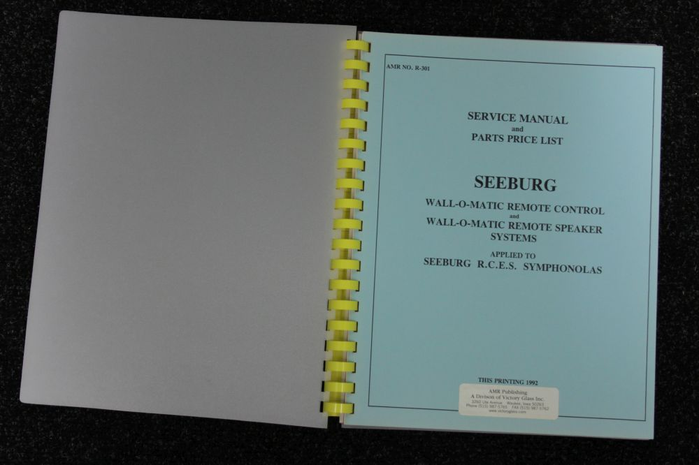Seeburg - Service Manual and Parts Price List wall-o-matic