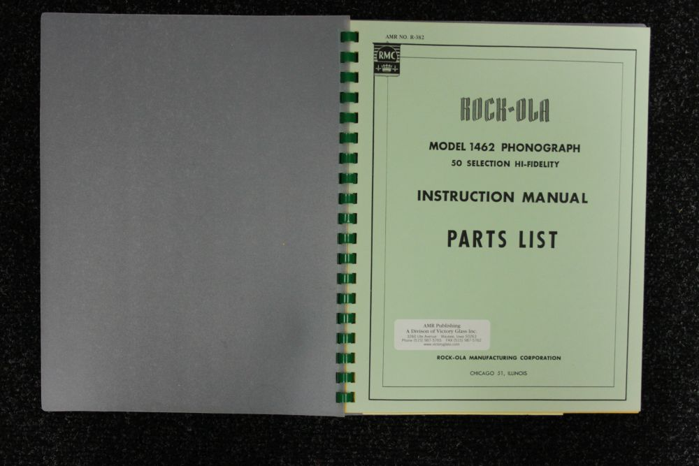 Rock-ola - Instruction Manual Parts List - Model 1462