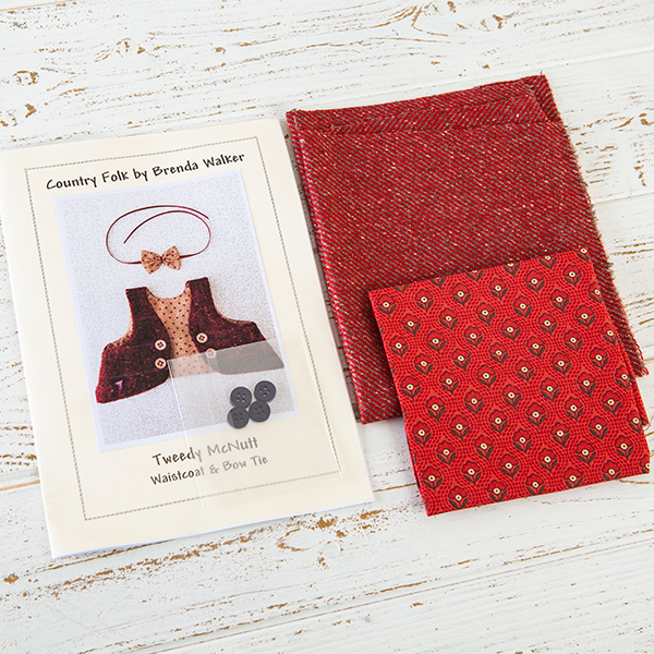Fabric Affair: Tweedy McNutt Waist Coat Kit – Red.
