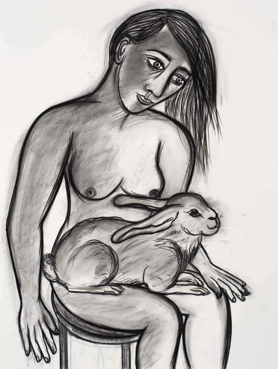 GIRL WITH RABBIT 2