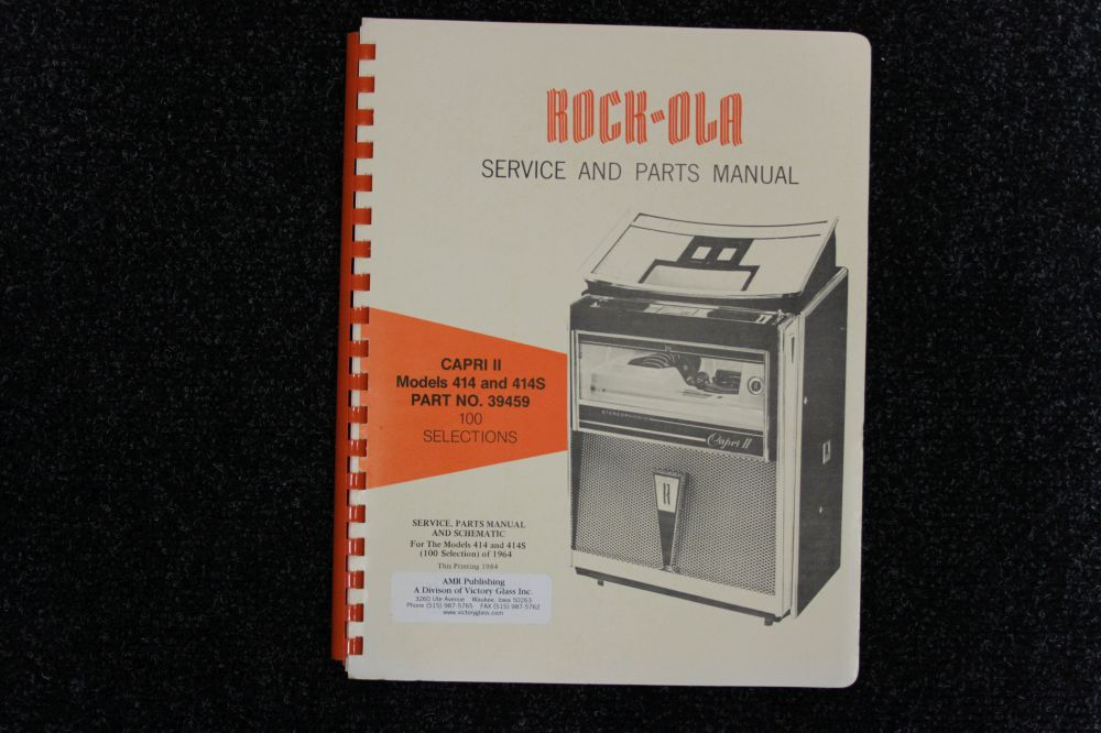 Rock-ola - Service and Parts Manual - Model 414 and 414S