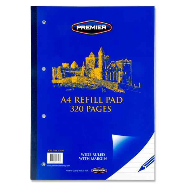 A4 Refill Pad 320 page Side Bound