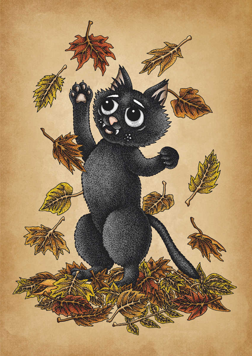 The Autumn Cat by Jenny Bommert, 2017