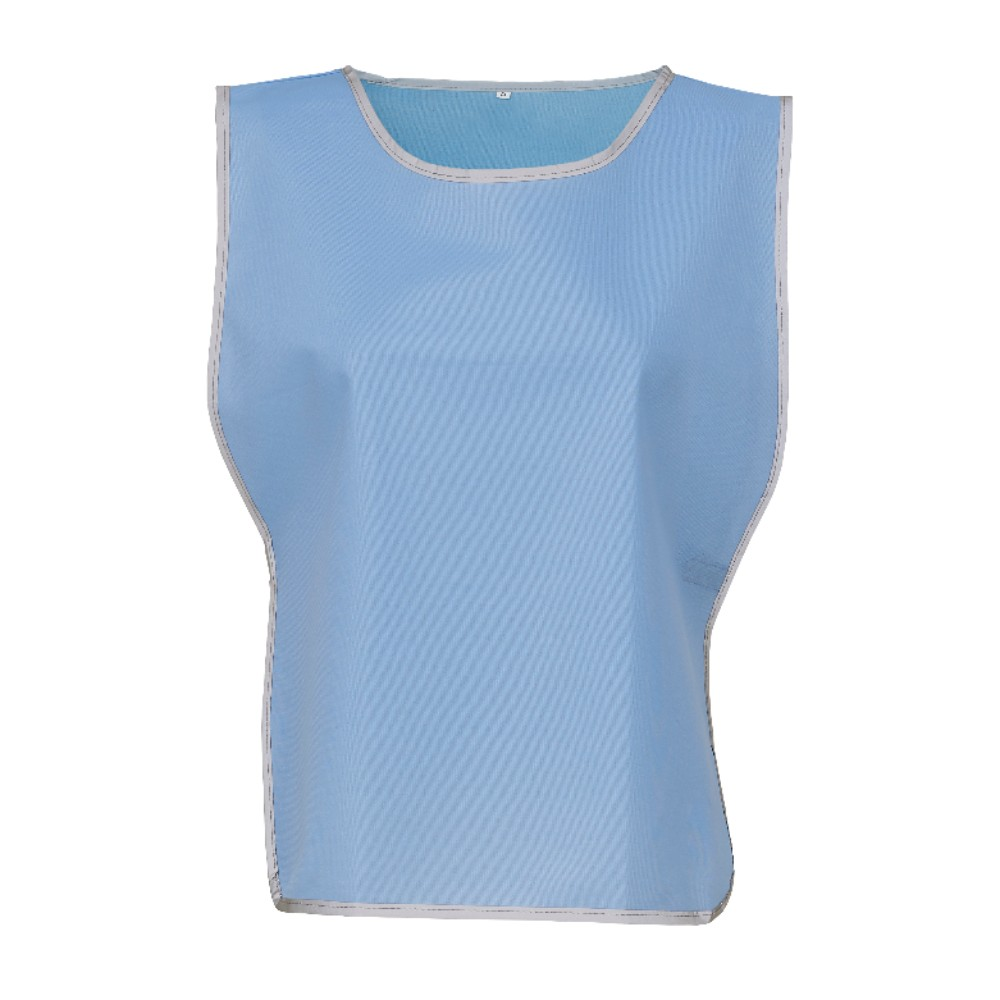 KHVJ259 Sky Blue Lightweight Polyester Tabard with Reflective Trim