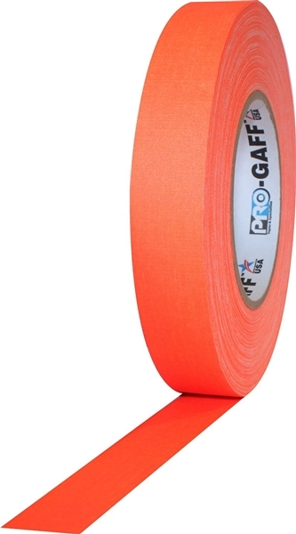 PRO GAFF® - FL Orange Fluorescent Gaffer Tape - 1 inch x 25 yards (24mm x 22.8m)