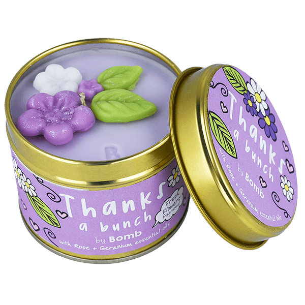 Thanks a Bunch Tin Candle by Bomb Cosmetics