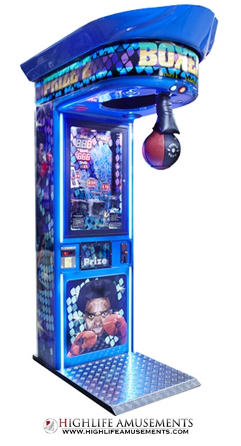 oksmachine, boksautomaat, bokser, boxer, boxing game, punch bag, highlife amusements, huren, kopen, exploitatie