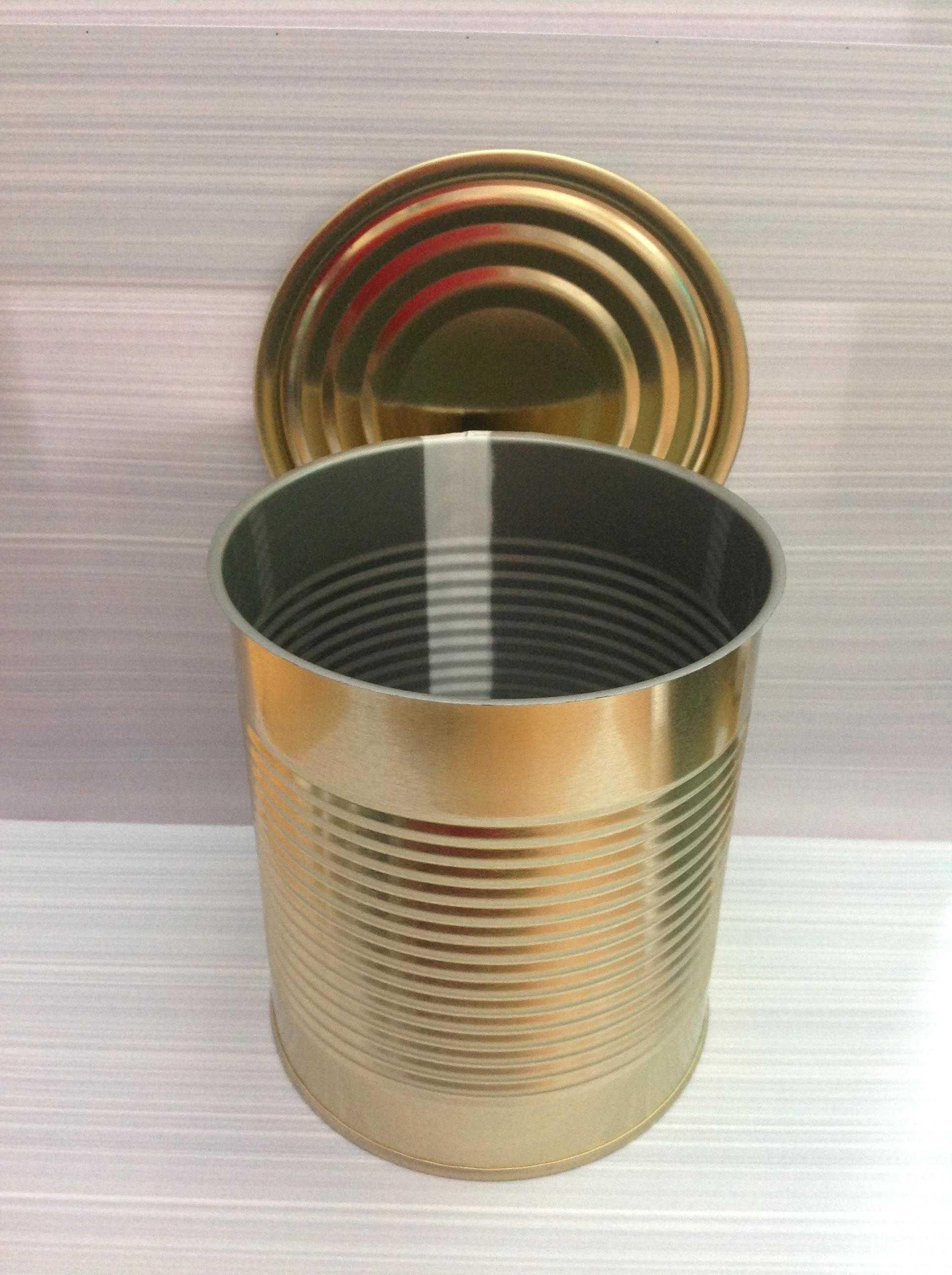 10 In A Box No13. Tin Can with Ring-pull Lid diameter 99mm x 119mm high with bead lines.