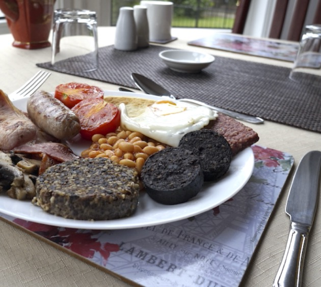 Traditional Scottish Breakfast at Lindean Guest House Dumfries
