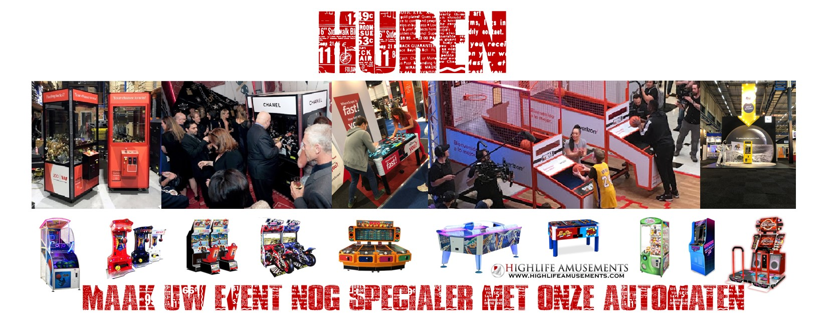amusement games huren, spellen, arcade, kinderfeest, kidsparty, beurs, event, gamehall, pop up, airhockey, boksautomaat, boks,machine, basketbal, airhockey, grijpautomaat, dance, game, machine, race simulator, opening, winkel, bedrijf, personaliseren, customizing