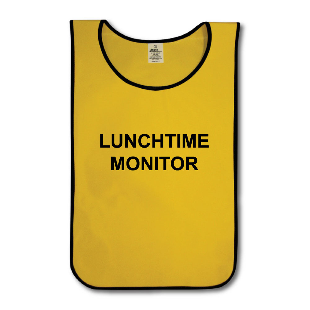 Children's Lunchtime Monitor  Nylon Tabards - Various Colours