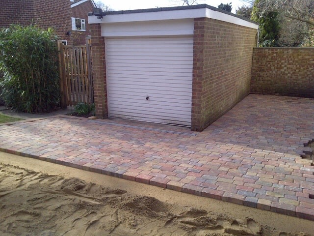 New block paved driveway in Claygate, Surrey