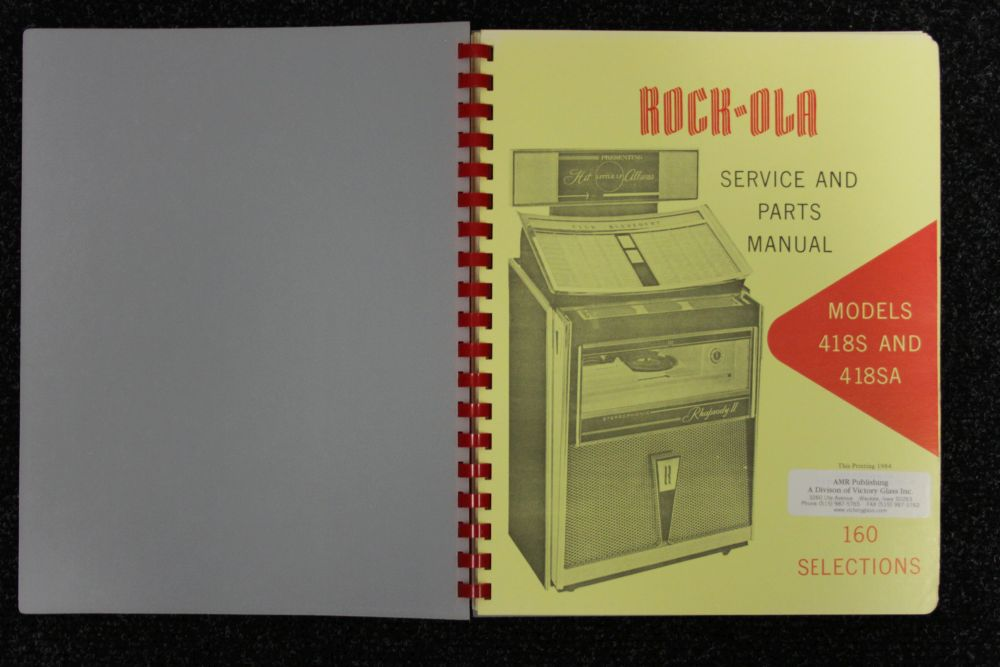 Rock-ola - Service and Parts Manual - Models 418S and 418SA