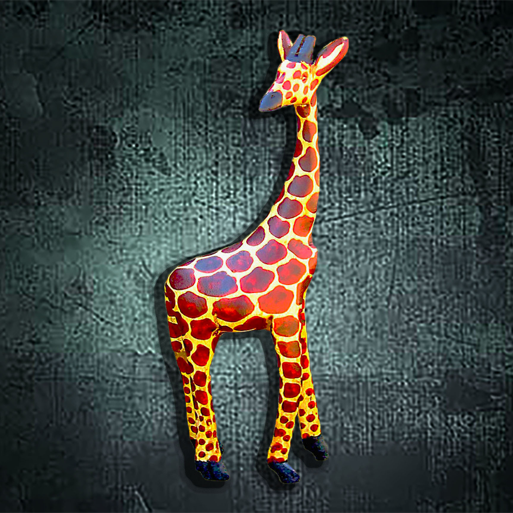 Hand Carved Wood Giraffe (Large)