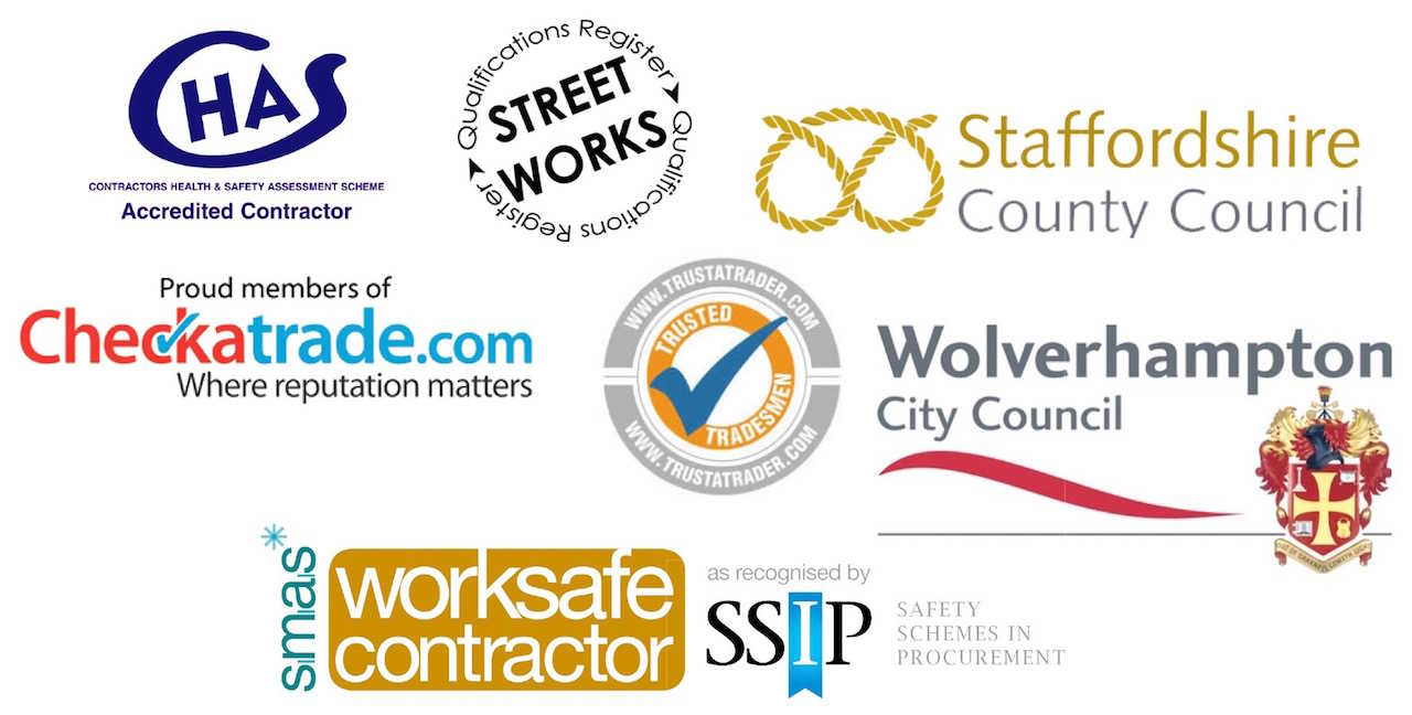 County Groundforce Ltd is CHAS, SSIP, SMAS and Street Works accredited