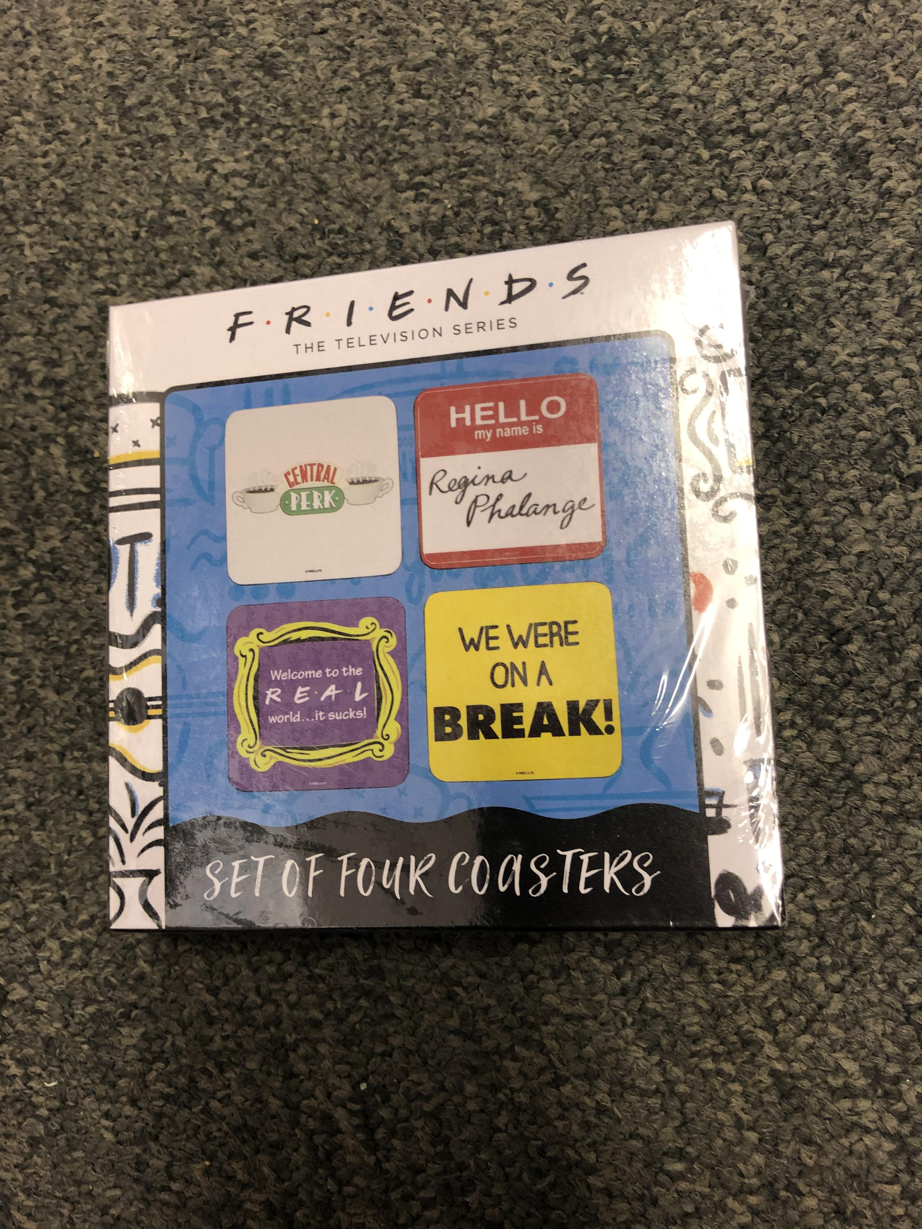Friends the TV series coaster set