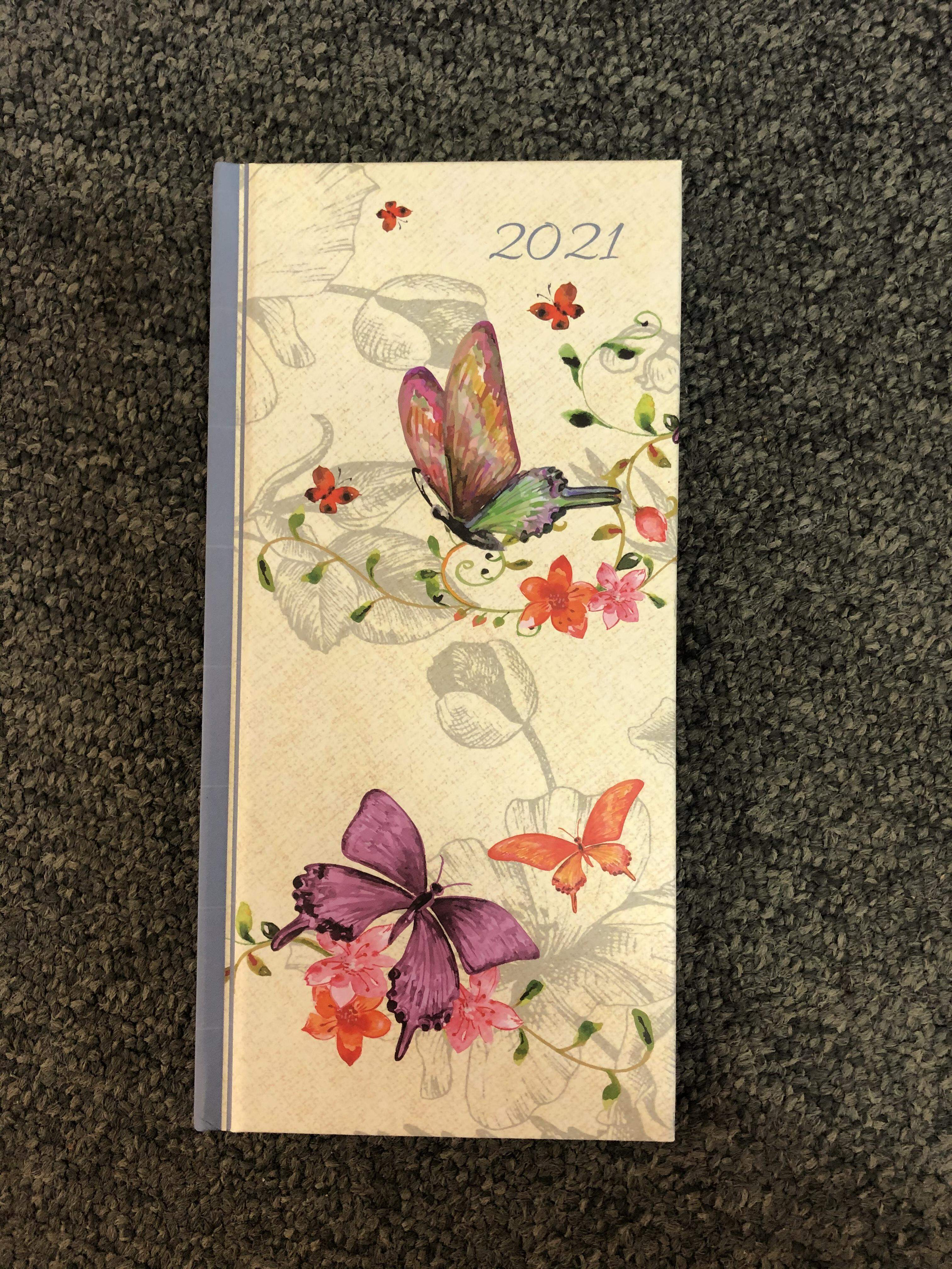 Slim butterfly 2021 diary