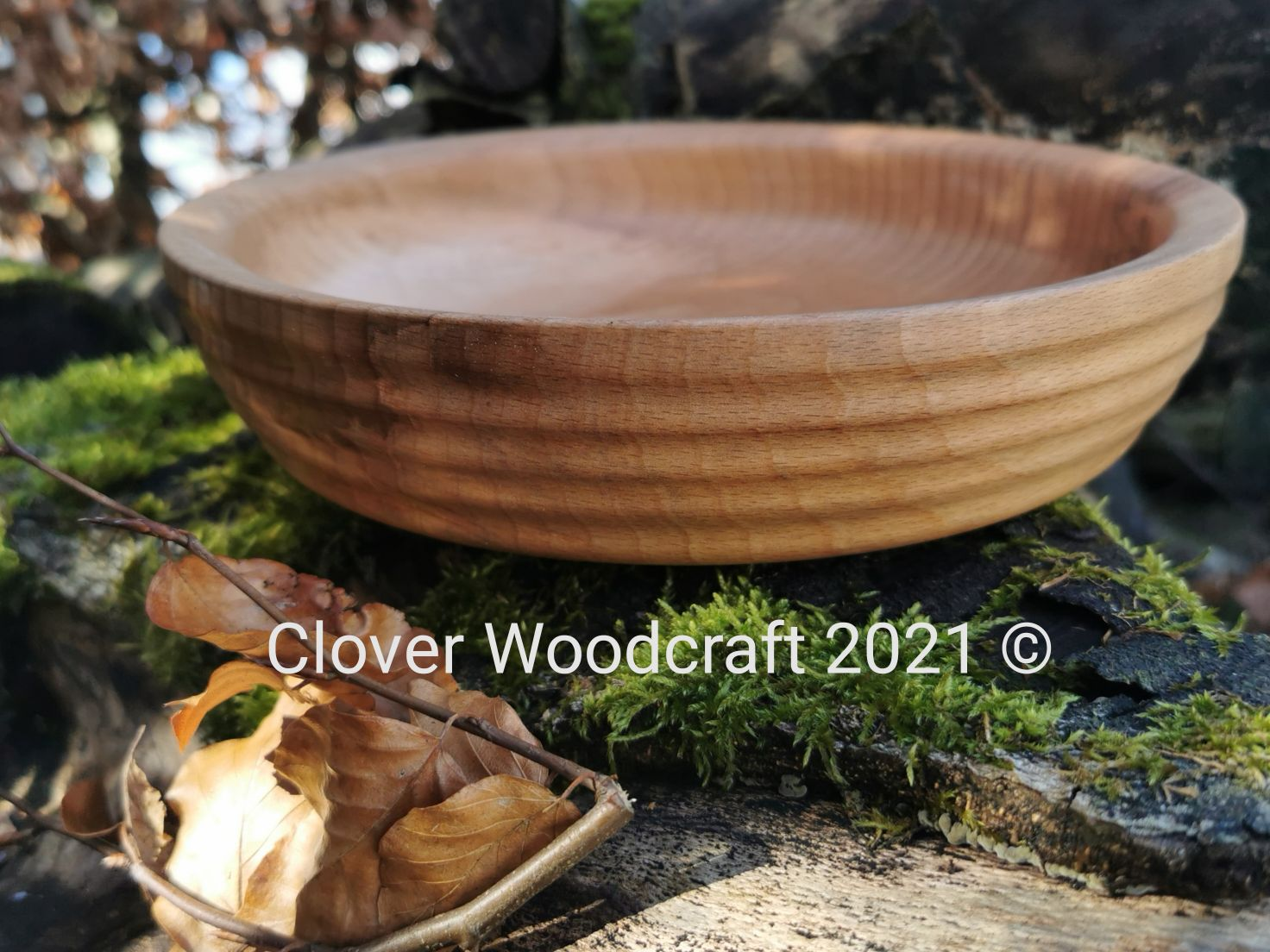 Beech Shallow Wood Turned Platter