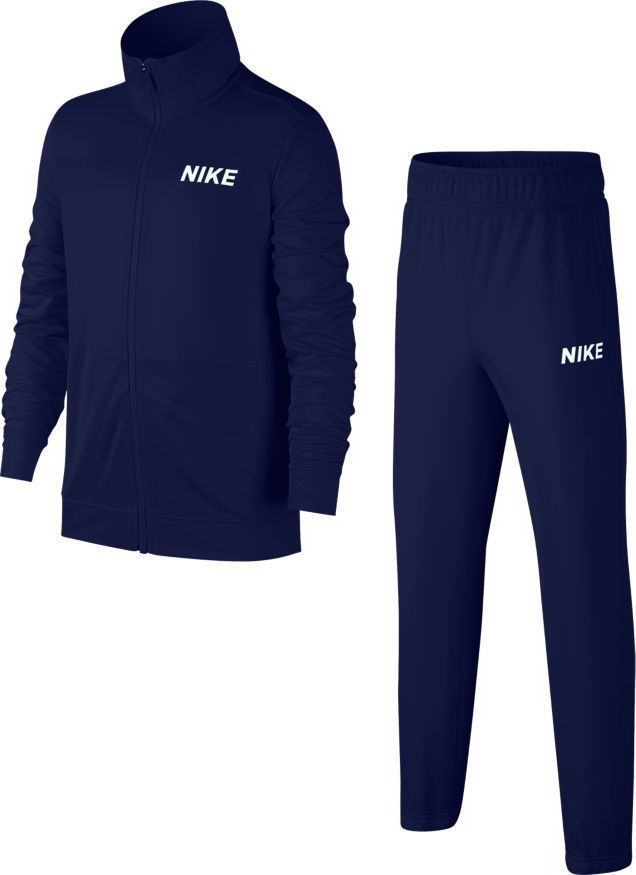 Nike Poly Tracksuit Navy-White